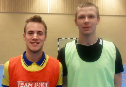 De båda 21-åringarna Emil Ring, t v, och Bartok Krasowski, är två av nyförvärven. Från Ölmstad respektive Peking.