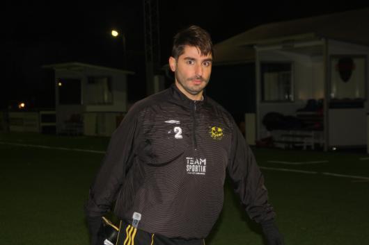 Kallt men trevligt. Erion Nishku på första träningen med Horda AIK.