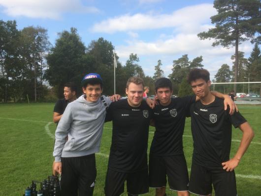 Här är de fyra måslyttarna; från vänster Alexander, Philip, Emiliano och Henry.