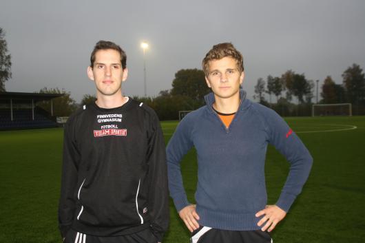 Två nya som gjorde bra ifrån sig under första träningspasset ; Sebastian Nilsson och Johan Sandström.