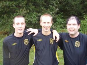 Trion som fick hål på Ohsbruk: fr v Rickard Svensson, Peter Braun och Johan Lavesson.