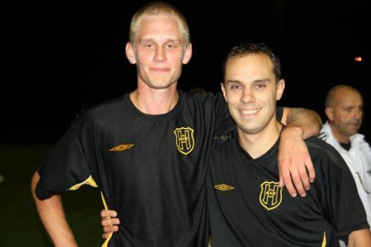Målskyttar mot Rejban, Erik Gustafsson (2-2 på nick) och Henrik Karlsson (1-1 på ett skott i krysset)
