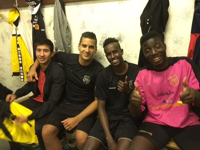 Emiliano, Alexis, Poston och Findlay glada efteråt - och nöjda.