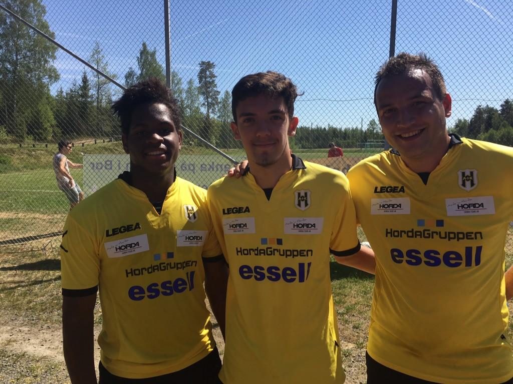 Målskyttar; Jose, Albert och Alex