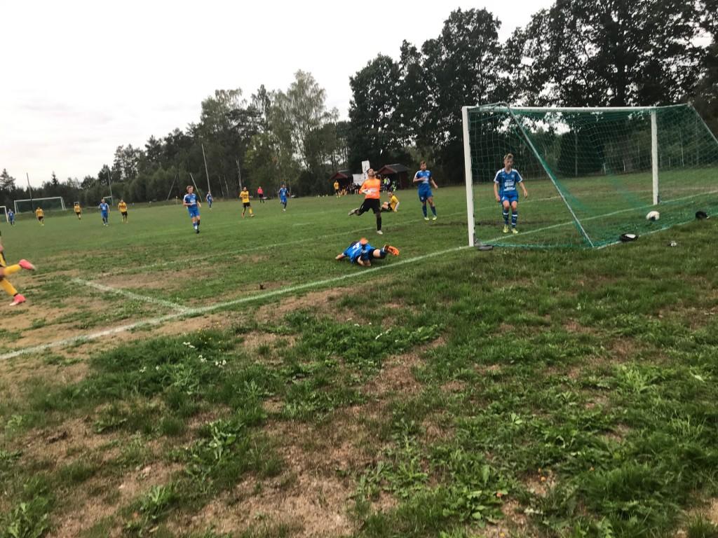 1-0 gjorde Albert  (bara fötterna syns),framspelad av Zenel