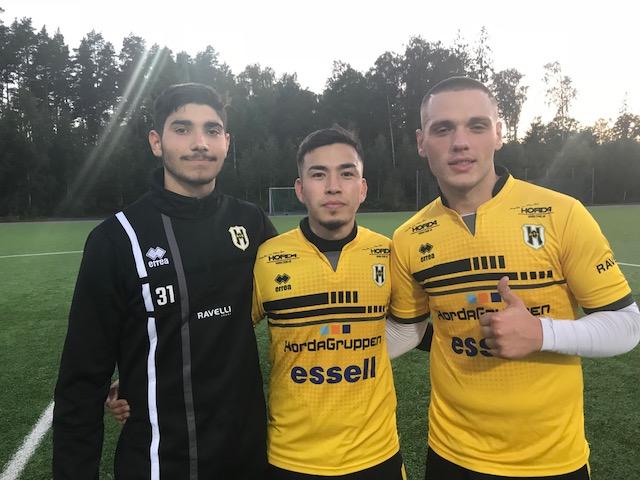 Tre trötta målskyttar; Veseli, Reza och Dautaj